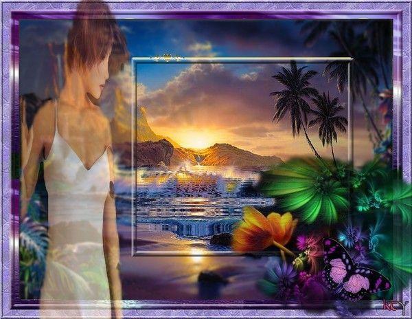 Femme bord de mer