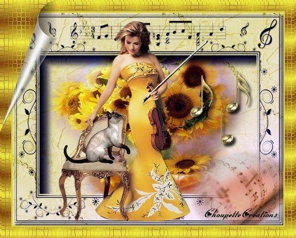 Belle créa sur le thème de la musique de mon amie Michelle